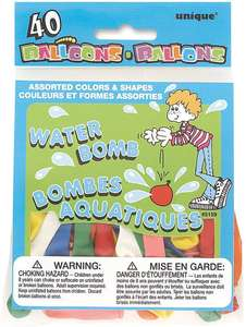 Latex Assorted Water Balloons Pack Of 40 - 39p @ Amazon Prime (+£4.49 non-Prime)