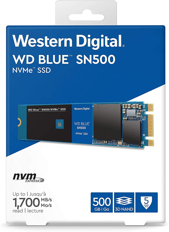 WD Blue SN500 High-Performance NVMe SSD - 500GB (Like New) £45.46 @ Amazon Warehouse