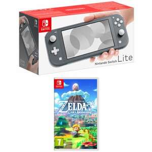 Nintendo Switch Lite (Grey/Turquoise/Yellow) + The Legend of Zelda Link's Awakening £199 delivered @ Game