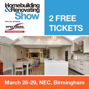 2 FREE TICKETS to NEC Birmingham Homebuilding & Renovating Show