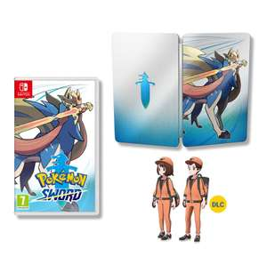 Pokemon Sword/Shield + Steel Case (Nintendo Switch) £39.85 Delivered @ Shopto