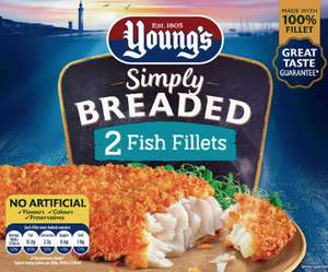 Youngs Breaded Omega3 - 2 Extra Large Fish Fillets £1 @ Farmfoods National Deal