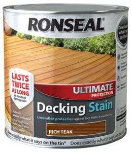 Ronseal Ultimate Protection Decking Stain - Teak 2.5L - £5 @ Wickes (free click and collect)