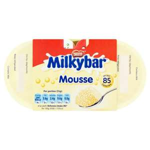 Milky Bar 4 X 55g ( 220g ) Mousse 75p @ Iceland