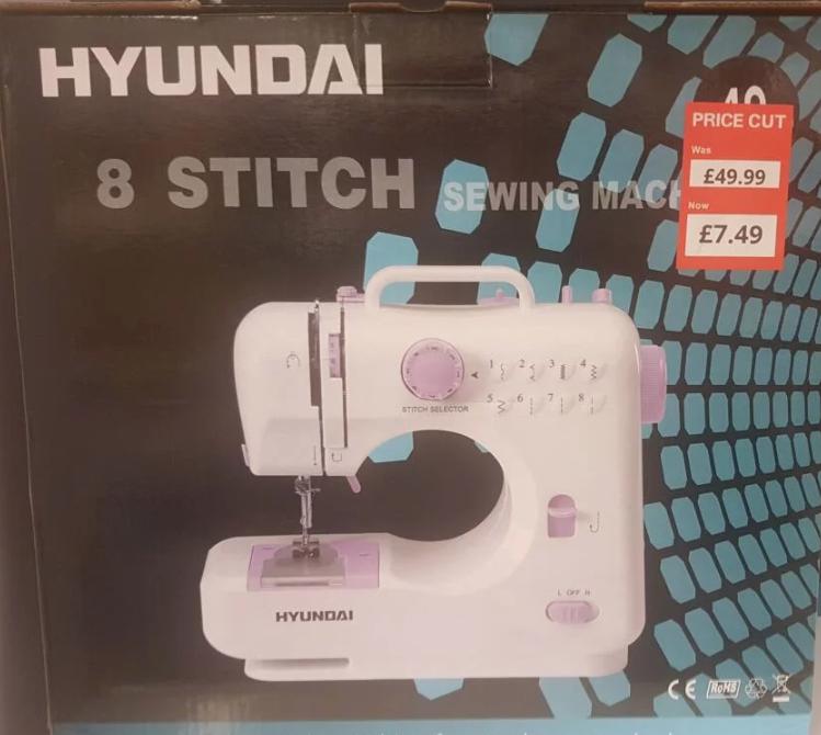 Hyundai 8 stitch sewing machine £7.49 Poundstretcher Stockport Hazel Grove