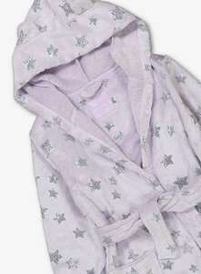 Lilac Glitter Star Hooded Dressing Gown - 3-4 years £4.50 / 5-6 years £5 @ Argos ( Free C&C )
