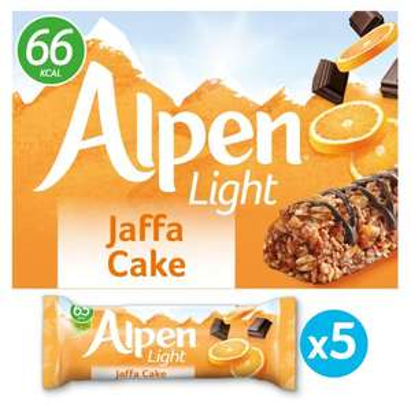 Alpen 5 Light Bars - Jaffa Cake / Choc & Fudge / Double Choc / Salted Caramel / Summer Fruits , £1 @ Iceland