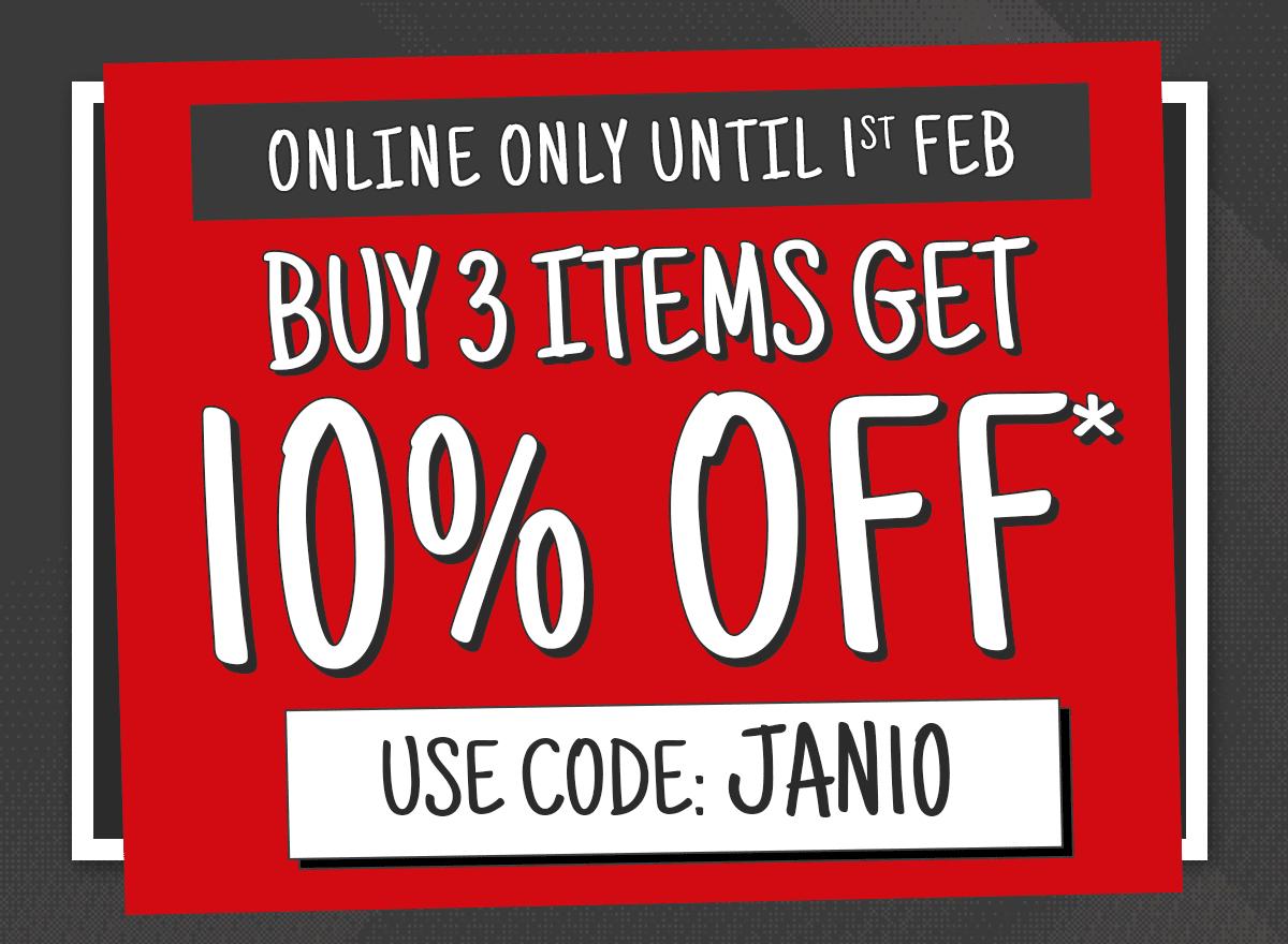 Buy 3 items get 10% off at Ryman