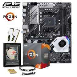ASUS X570-P Motherboard + AMD Ryzen 3600 + 16GB Corsair Vengeance White 3000MHz Memory + ASUS ROG STRIP Bundle £383.99 @ Aria