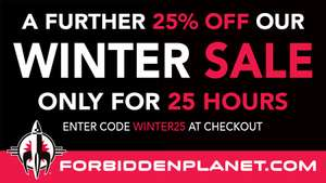 25% off using code at checkout on select items @ Forbidden planet