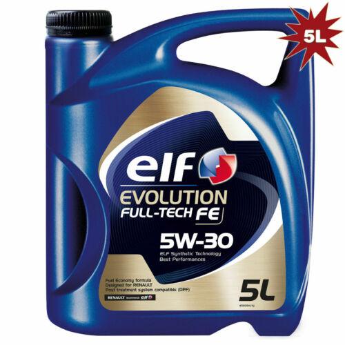 Elf Evolution Full-Tech FE 5W-30 Synthetic Technology Engine Oil 5 Litre 194908 £16 inc FREE postage @ ebay / motorhomesscotland