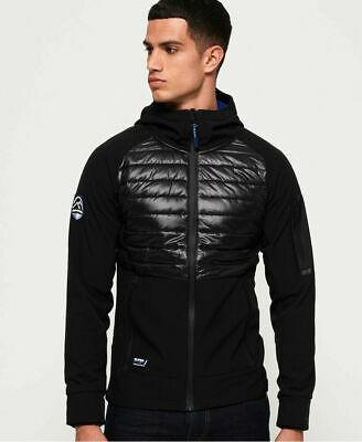 New Mens Superdry Mountain Soft Shell Hybrid Jacket Black £27.20 Superdry eBay