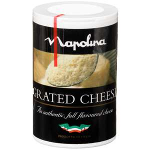 Napolina Italian Grated Cheese Tub 50g 59p in B&M Stores