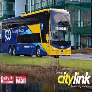 Half Price Travel with Scottish Citylink using codes from Daily Record Newspaper