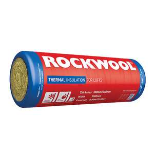 Rockwool Thermal Insulation Roll - 100/200mm £35 Per Roll / Coverage 3.3m2 - Free Click & Collect @ Wickes