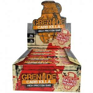 Grenade Bars two boxes for £20.99 delivered using code @ MuscleFood