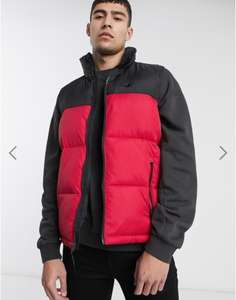 Hollister colourblock puffer vest in red/black £27.62 with code @ Asos