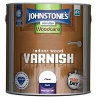 Johnstones varnish and woodstain on clearance from £6.23 at Homebase