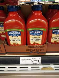 Hellmann's Incredible Tasting Tomato Ketchup 800g 79p each or 2 for £1 @ Farmfoods (Mitcham)