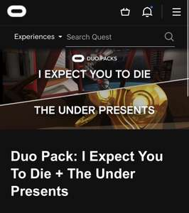 Duo Pack: I Expect You To Die + The Under Presents - £26.99 @ Oculus Store
