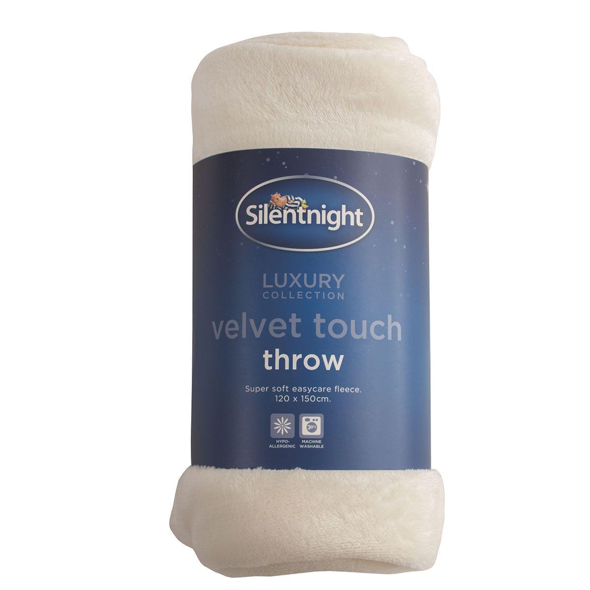 Robert Dyas - Silentnight Hazy Flannel Fleece Throw 120 x 150cm - Grey/Cream - £3 - Free C&C