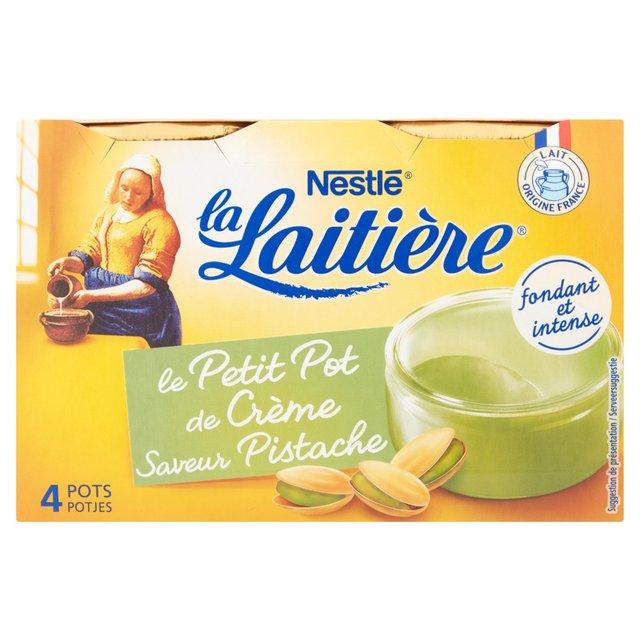 Nestle La Laitiere Le Petit Pot de Creme Pistache 4 x 100g - Creme Brulee-style Pud, 69p Heron in-store