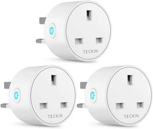 3 Pack -13A -Smart Plug WiFi Outlet TECKIN Mini Plug (Amazon Alexa, Google Home & IFTTT)- £23.99 Sold by BABAN EU and Fulfilled by Amazon