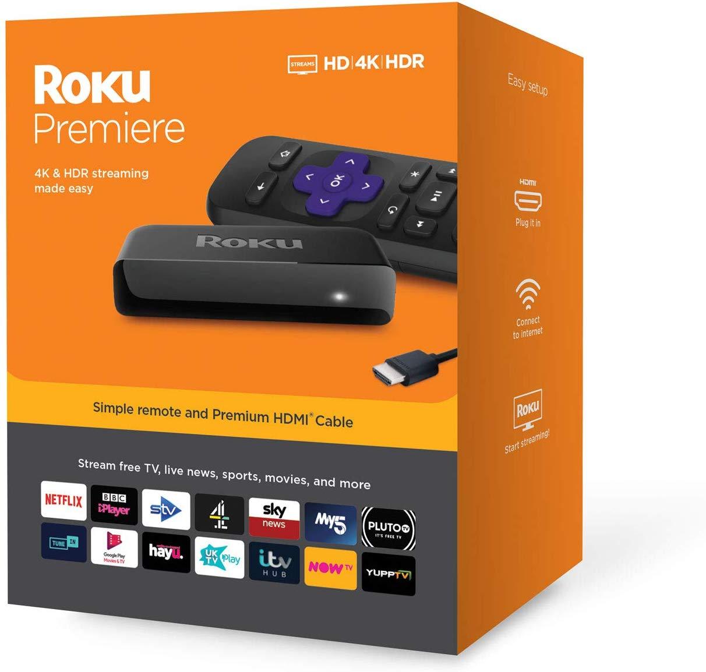 Roku Premiere HD/4K/HDR Streaming Media Streamer £29.99 @ Amazon