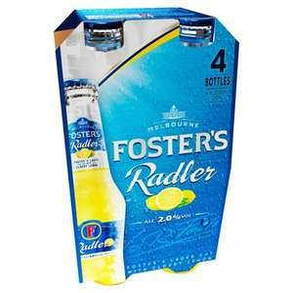Fosters Radler Cloudy Lemonade 4x300ml £1.49 B&M