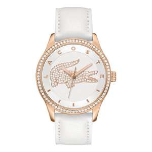 Lacoste Ladies White Leather Strap Watch - Now £59.99 at Argos