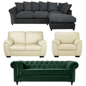 Get 30% Discount On a £500+ Spend on Sofas, Arm Chairs, Sofabeds, Recliners & Occasional Seating Using Code @ Argos