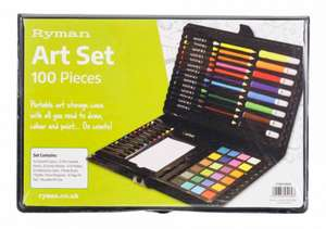 Ryman Art Set 100 Piece for £3.49 Free Click and Collect @ Ryman