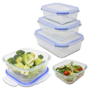 Set of 5 Assorted Maison & White Glass Airtight Food Storage Containers for £11.99 delivered @ Roov.co.uk