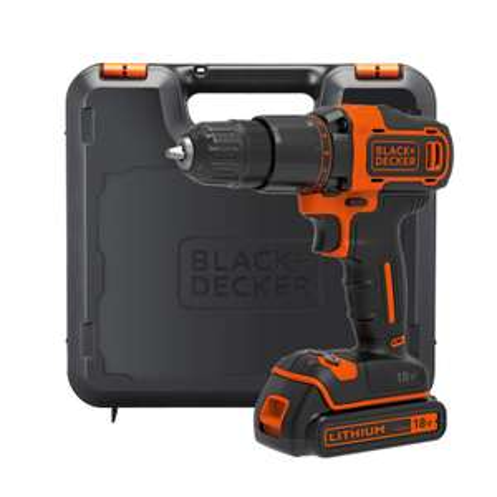 £20 off BLACK+DECKER 18V Cordless 2 Gear Hammer Drill with Kitbox BCD700S1K-GB £45 at Homebase