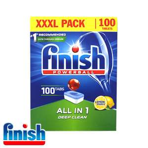 Finish All in 1 Powerball: Lemon Sparkle (XXXL Pack) dishwasher tablets- 100 tabs £5 instore at Tesco (Arbroath)