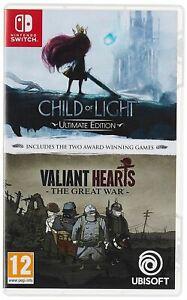 Child Of Light And Valiant Hearts - Nintendo Switch - Ebay.co.uk £12.16 Sold by g2gltd (62010)