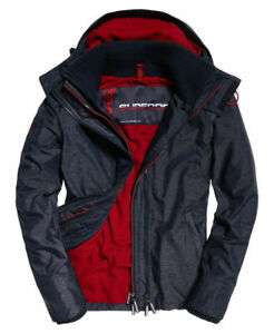 New Mens Superdry Pop Zip Hooded Arctic Sd-Windcheater Jacket Indigo Marl Size S £25.60 at Superdry eBay