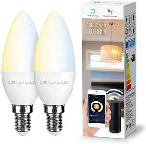 LE WiFi Smart Bulbs E14, Works with Alexa and Google Home - £15.99 Prime / +£4.49 non Prime Sold by NEON Mart and Fulfilled by Amazon.