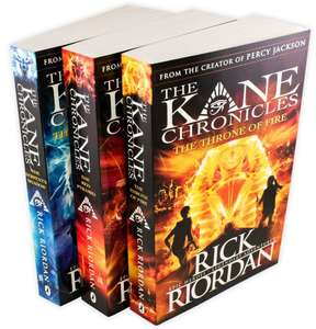 The Kane Chronicles 3 Books Collection By Rick Riordan Ages 9-14 Paperback £7.00 @ Books2door (P&P £2.49)