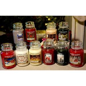 6 x Assorted Festive Large Classic Candles £45 delivered @ Yankee Bundles