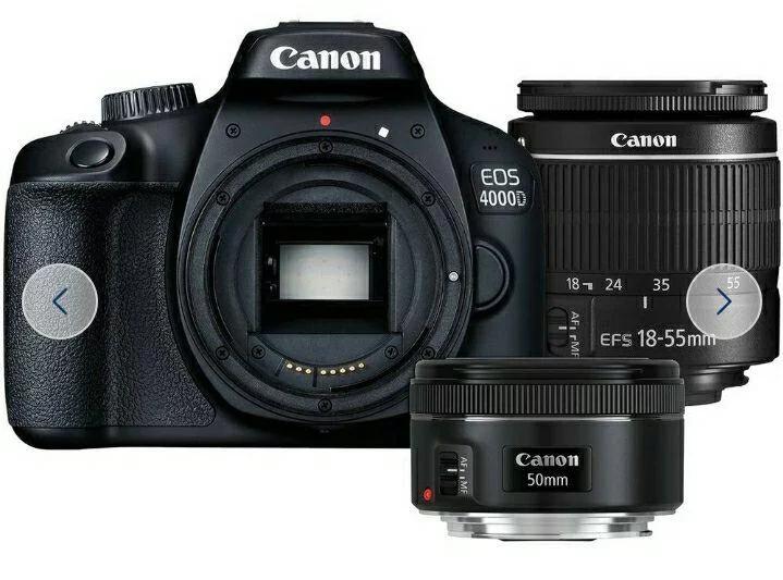 Canon EOS 4000D DSLR 2.7 Inch Camera with 18-55mm & 50mm Lenses £295.99 @ Argos / ebay