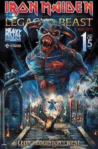 Iron Maiden: Legacy Of The Beast: Volume 2: Night City #1 (Forbidden Planet Metallic Exclusive) Only 666 printed £2.75 @ Forbidden Planet