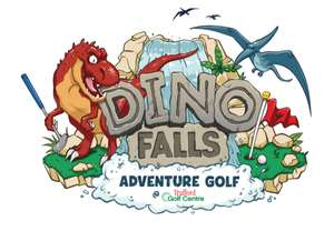 Kids go free this half term at Dino Falls adventure Golf Before 10.30 am Manchester - 17/02 to 28/02