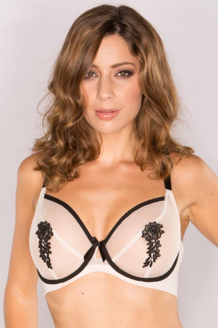 Boudoir Underwired Bra - Nude/Black - £4.20 @ Pour Moi