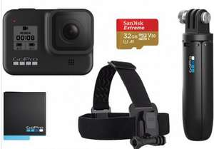 GoPro HERO8 Black 4K Action Camera (Special bundle Accessory kit) (Shorty, head strap, battery & 32GB micro SD) - £290 @ eGlobal Central