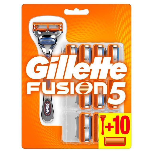 Gillette Fusion Manual Razor + 11 Blades - £16.66 @ Ocado
