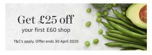 £25 off £60 shop at Amazon Fresh for New Customers!