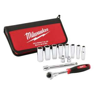 Milwaukee 3/8 Metric Deep Socket Ratchet set (Delivered or click&collect) £35.99 @ Euro Car Parts
