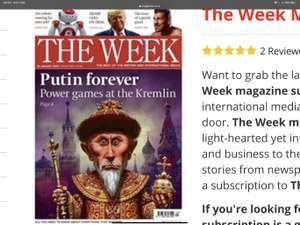 6 issues of The Week magazine (print only or print and digital) for free