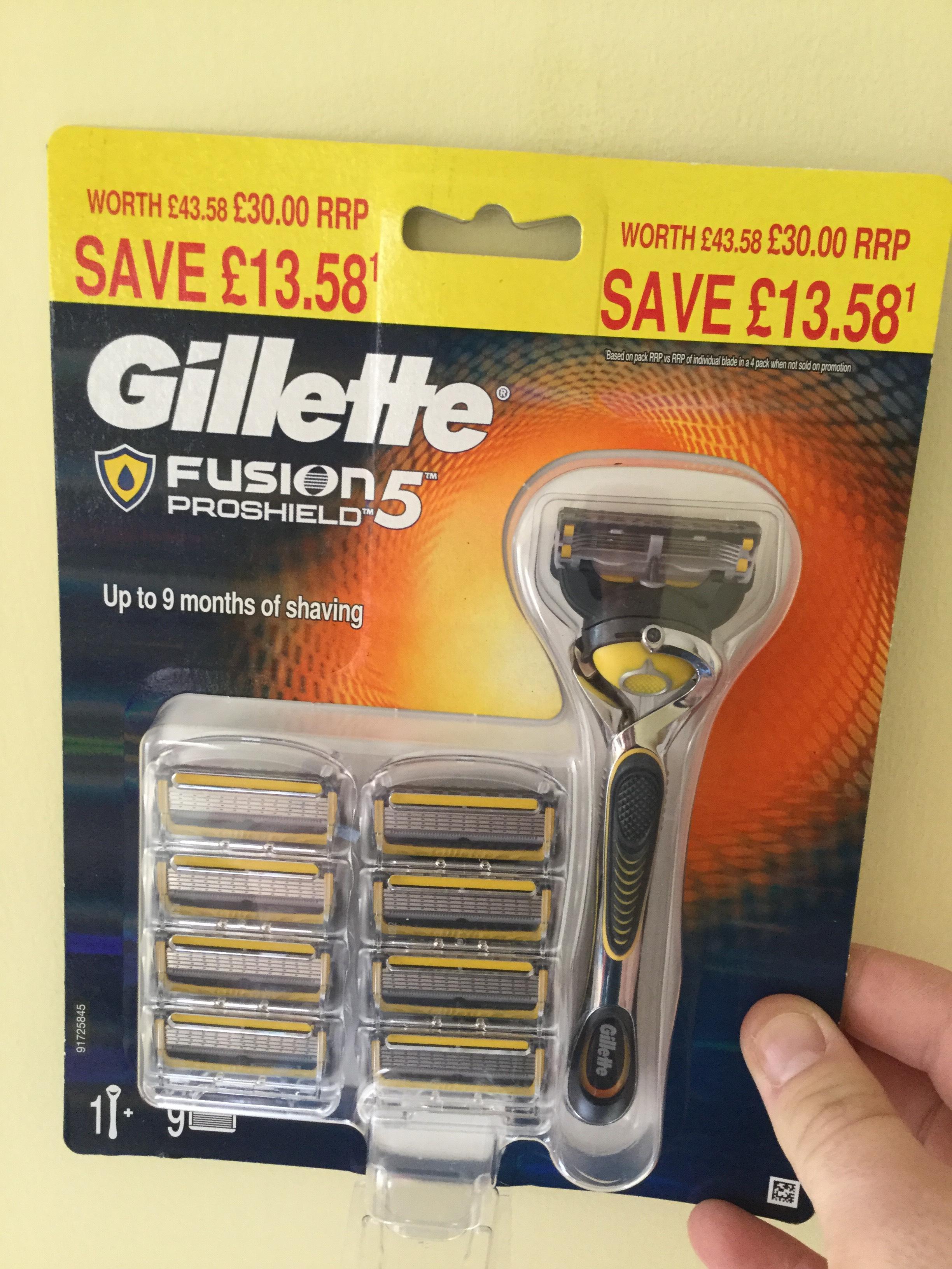 Gillette Proshield Razor - £12.90 instore @ Tesco (Newton Abbot)